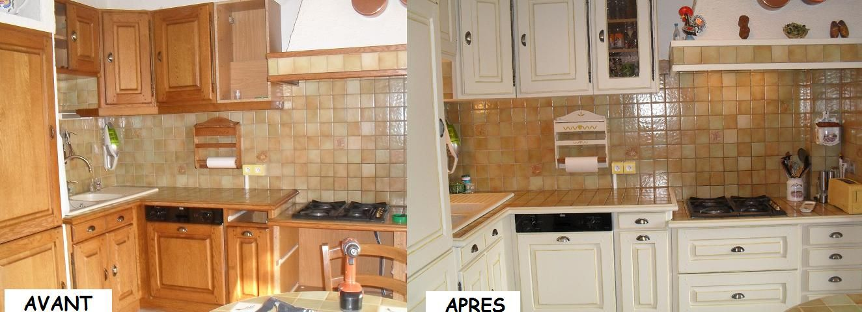 Cuisine avant et apr s for Peinture pour renovation cuisine